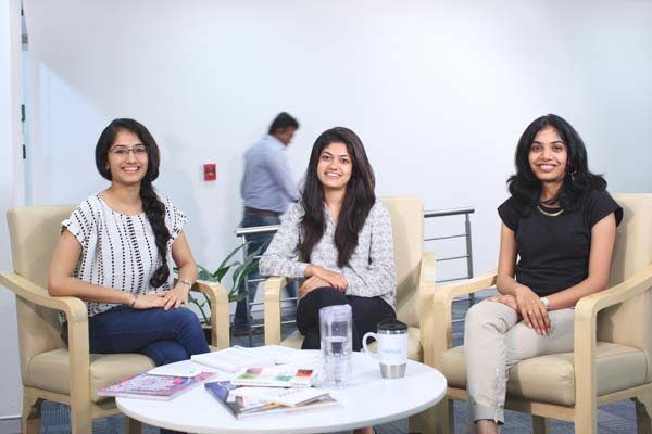 Three associates from Nielsen Bengaluru
