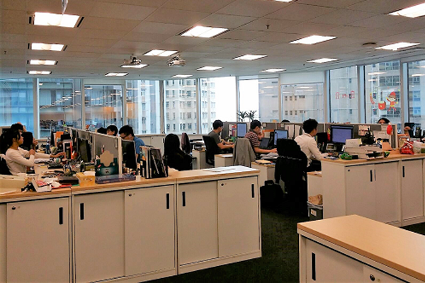 An interior view of the Nielsen office in Hong Kong