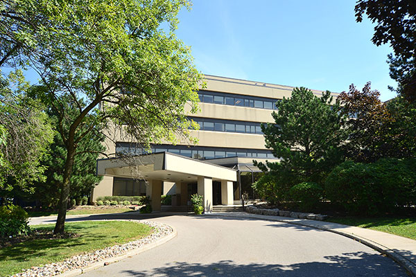 An exterior view of Nielsen's office in Markham