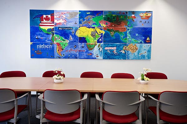 A conference room found in the Nielsen office in Hungary