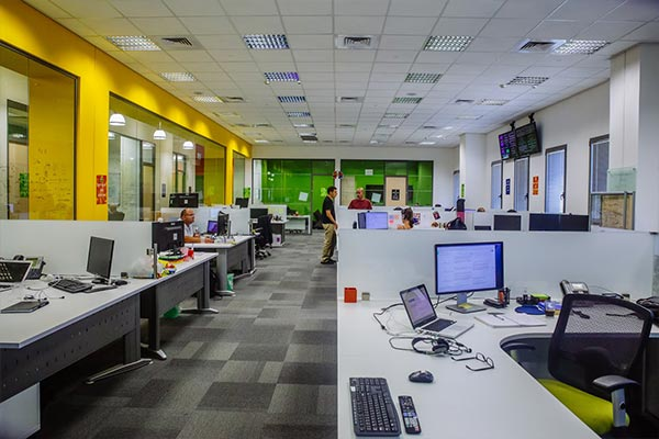 An interior view of the Nielsen office in Israel