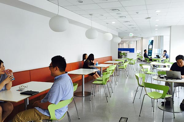 The cafeteria of Nielsen's office in Korea